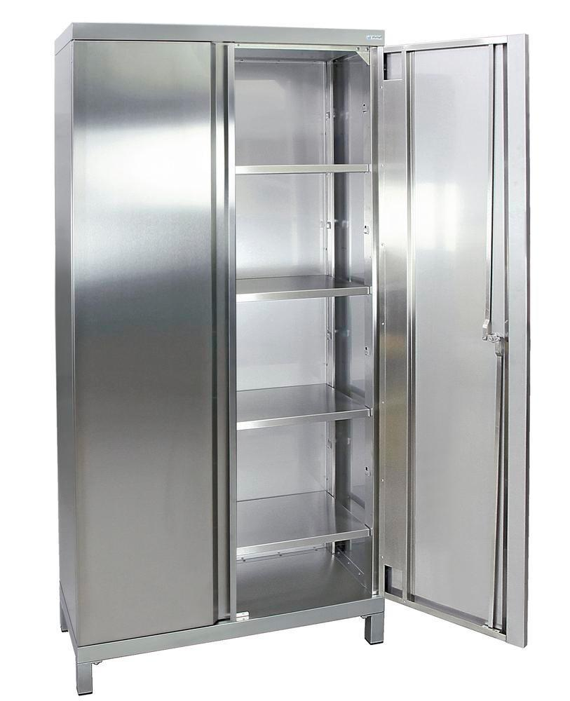 Armario de material en acero inoxidable Multinox-Plus, 900x400x1900 mm, 4 estantes, tipo 450-4