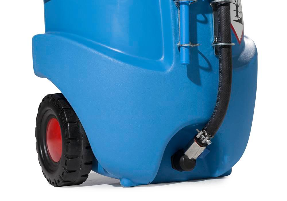 Depósito portátil tipo caddy para urea AUS32, version ATEX, volumen de 55l, bomba manual, azul - 3