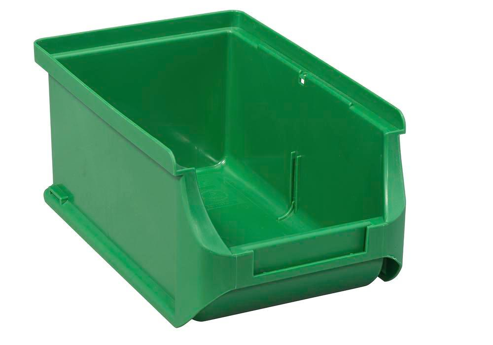 Cajas visualizables pro-line A2, PP, 100 x 160 x 75 mm, verde, pack = 24 uds. - 1