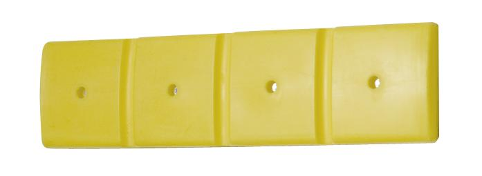Protector de pared 1000, en PE, amarillo, (LxHxB mm) 1000x50x250, set = 2 unidades
