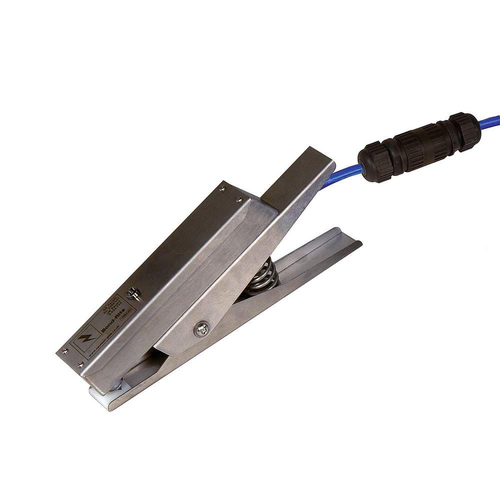 Pinza de tierra de acero inoxidable BR con LED de control, Quick Connect, ATEX